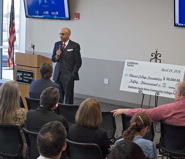 Odessa College one of only nine in U.S. to receive  Goldman Sachs Gives Community College Fund Grant