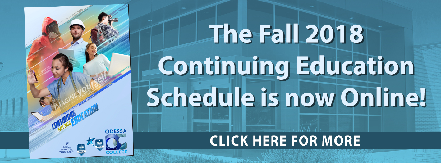 Fall 2018 CE Schedule