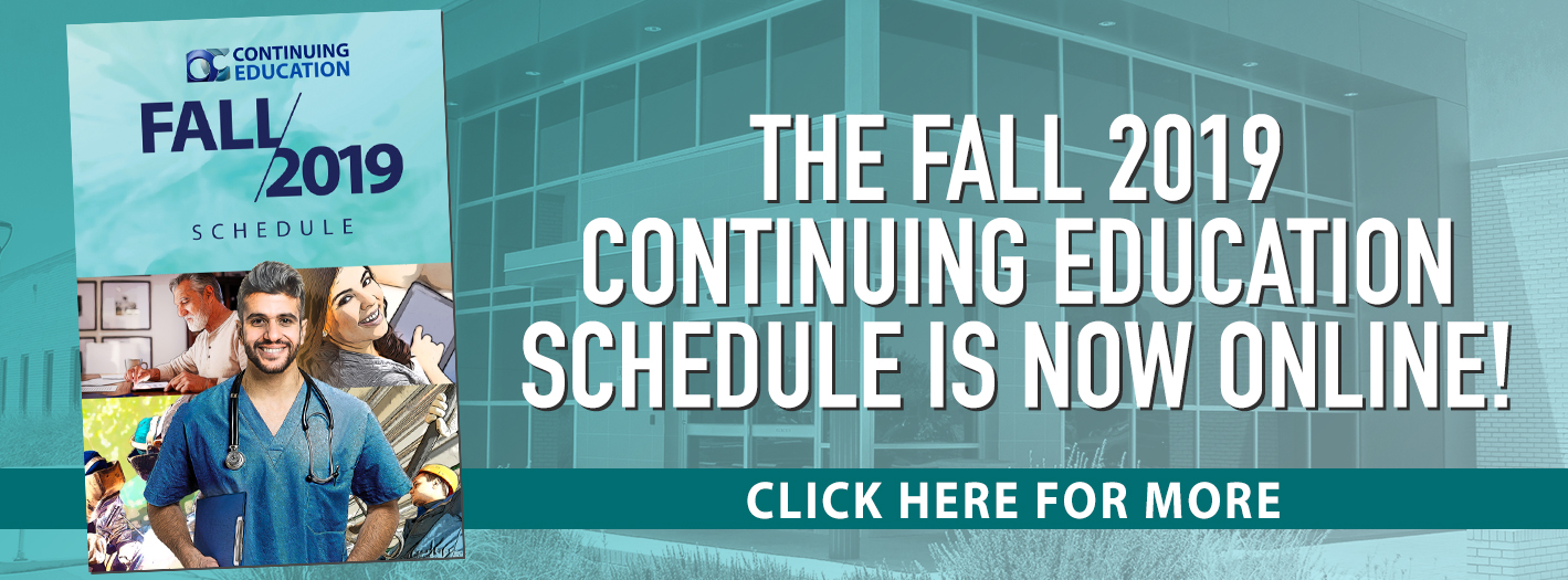 2019 Fall CE Schedule