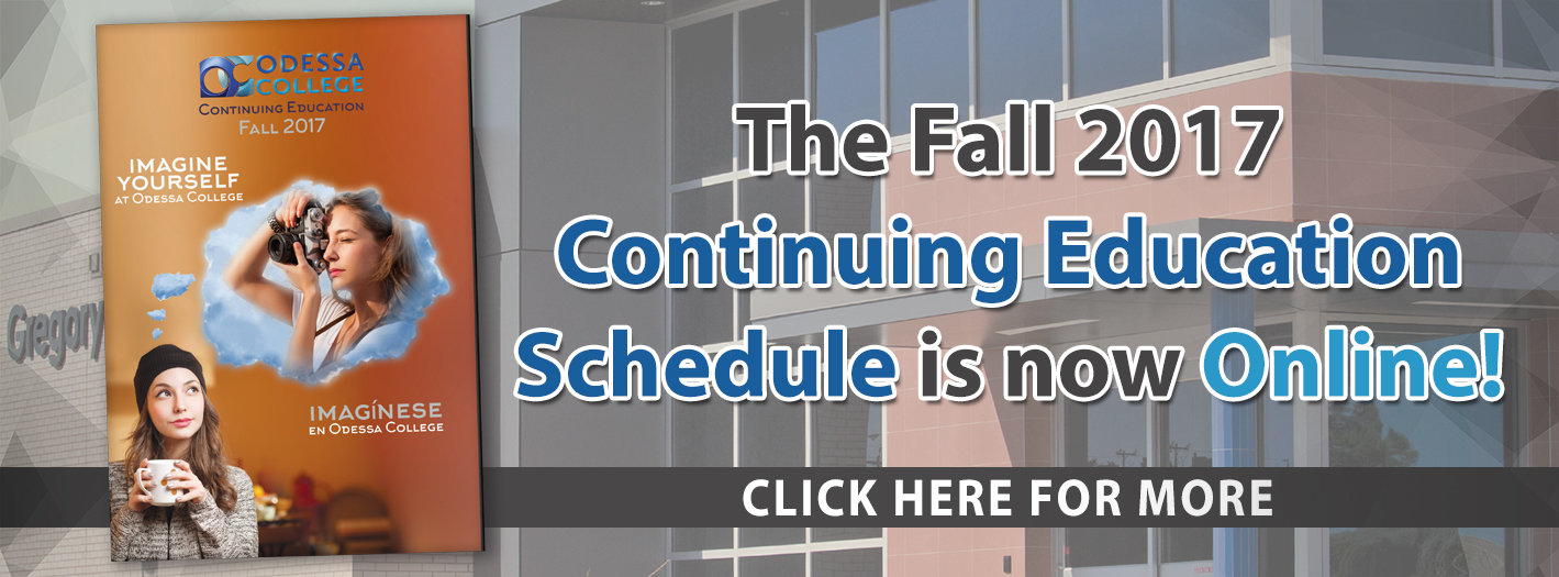 Fall 2017 Continuing Education Schedule