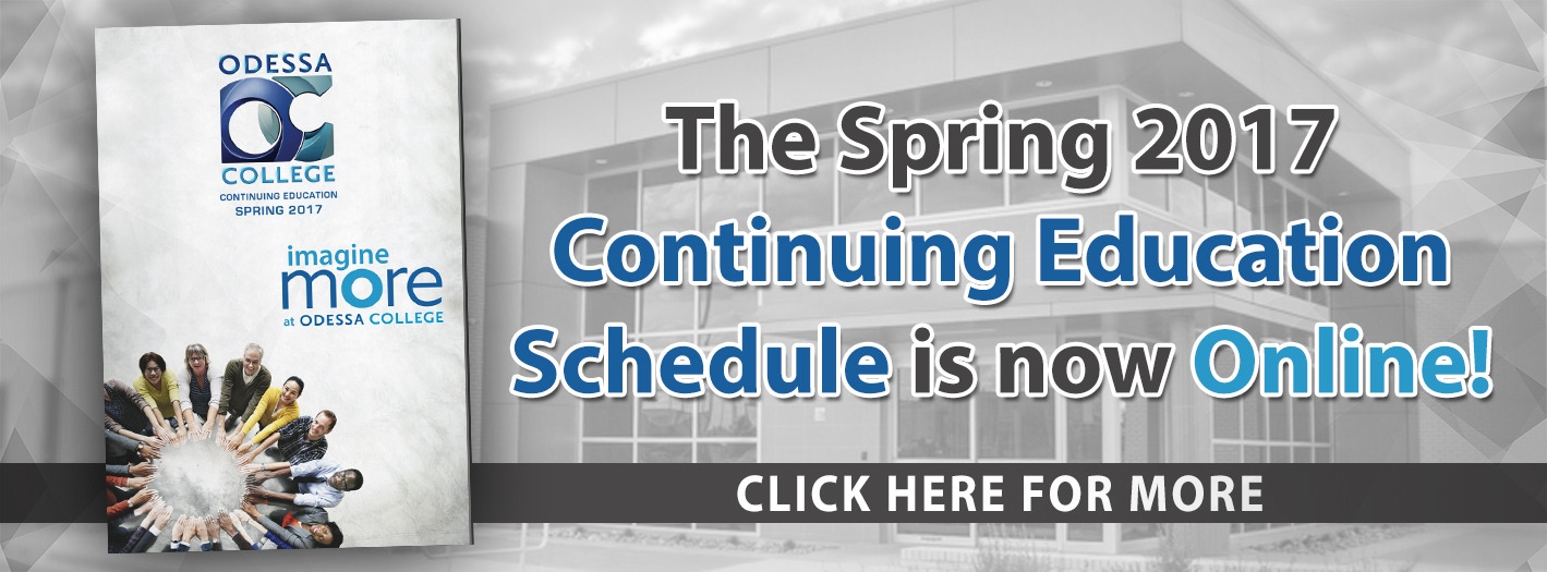Spring 2017 Continuing Education Schedule
