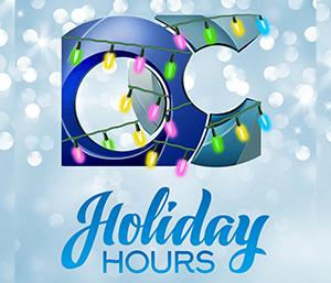 Odessa College 2019 -20 Winter Break Holiday Hours